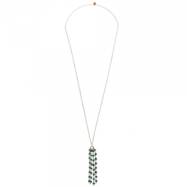 andromeda collana verde necklace green gioielli jewels castelbarco
